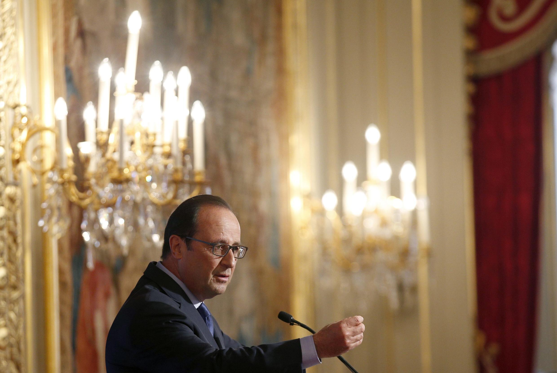 François Hollande, devant les ambassadeurs de France, le 28 août 2014.