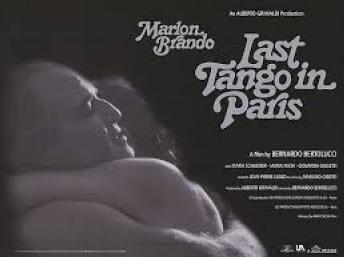"""Cartel de la película """"El último tango en París"""", protagonizada por Marlon Brando."""