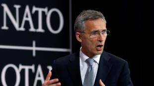 北大西洋公约组织(NATO)秘书长史托腾柏格(Jens Stoltenberg)资料照片