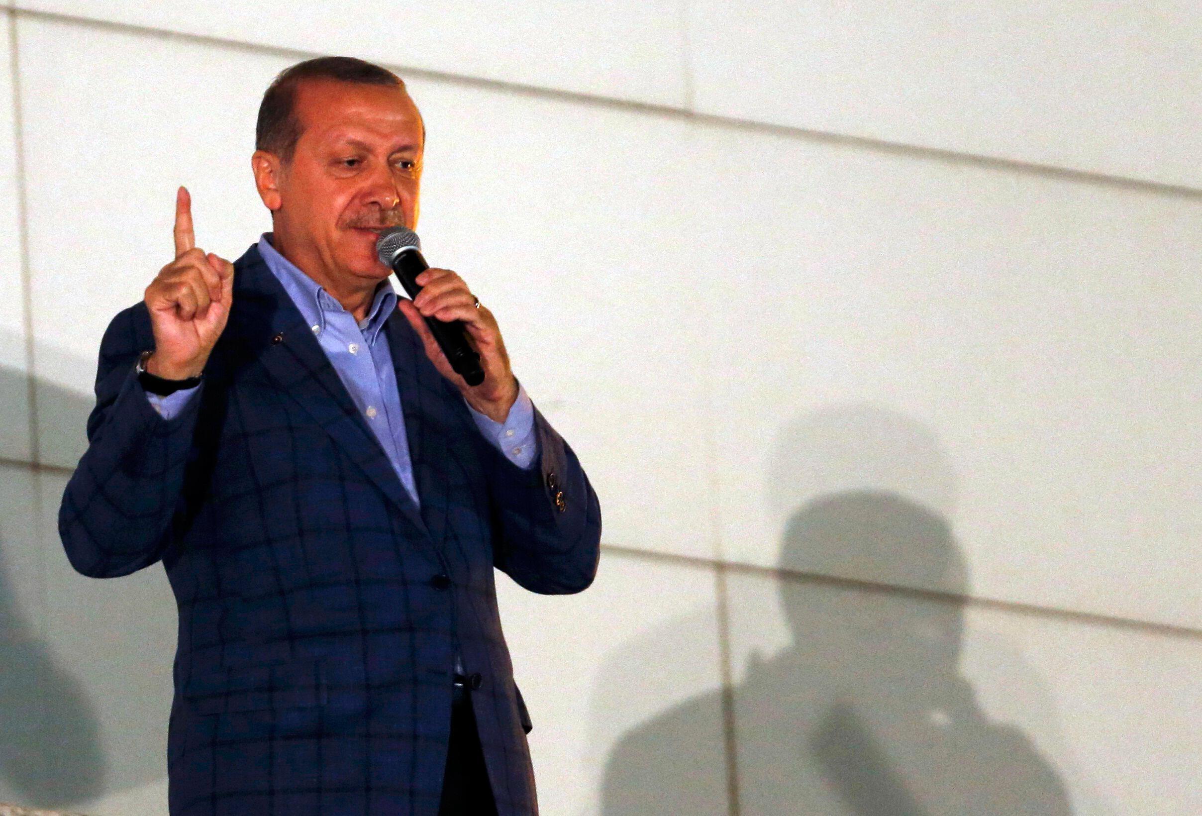 «D'une participation purement humanitaire, l'engagement d'Ankara devrait donc devenir logistique et même militaire», a dit Recep Tayyip Erdogan.
