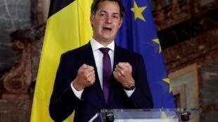 Alexander De Croo, lors d'une conférence de presse, le 30 septembre 2020.
