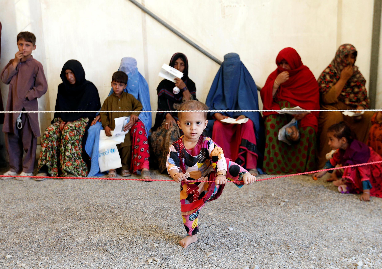 2016.2016年9月27日联合国难民署在阿富汗喀布尔的一个接待中心。