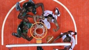 Lors du match Angola-Nigeria, à l'Afrobasket 2015.