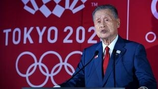 Le président du comité d'organisation des Jeux olympiques de Tokyo-2020, Yoshiro Mori, le 24 juillet 2019 à Tokyo