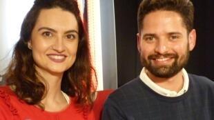 Johanna Soudry y Johnatan Marín en RFI