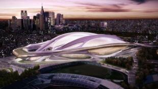 Imagem do projeto futurístico que levou à renúncia do ministro dos Esportes japonês.