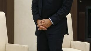 Nicolas Sarkozy, em moscou, na manhã desta sexta-feira.