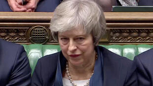 Thủ tướng Anh Theresa May tại nghị viện sau khi dự án Brexit bị bác bỏ, Luân Đôn, ngày 15/01/2019