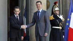 Le président syrien Bachar el-Assad est reçu par Nicolas Sarkozy ce jeudi 9 décembre 2010, au palais de l'Elysée.