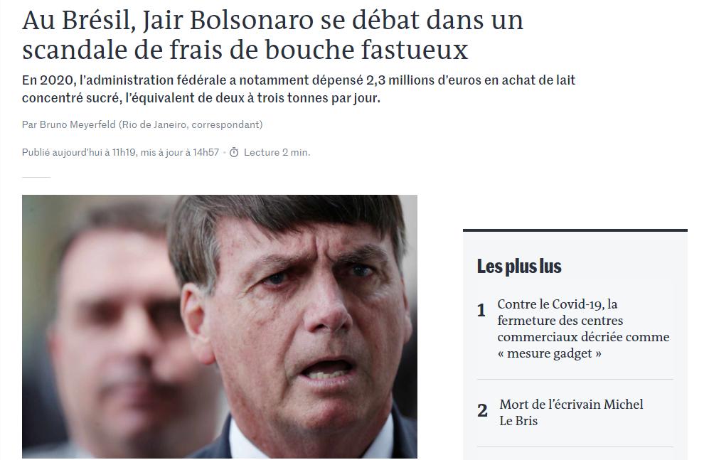 le monde, bolsonaro 30 janeiro