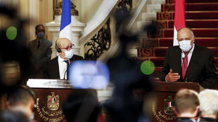 France égypte jean yves le drian sameh choukri