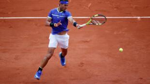 Nadal na vitória contra Basilashvili.