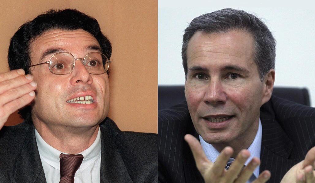Gilles Boulouque y Alberto Nisman.