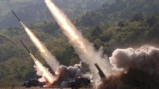 Ảnh tư liệu: Tên lửa Bắc Triều Tiên được bắn đi hôm 09/05/2019.