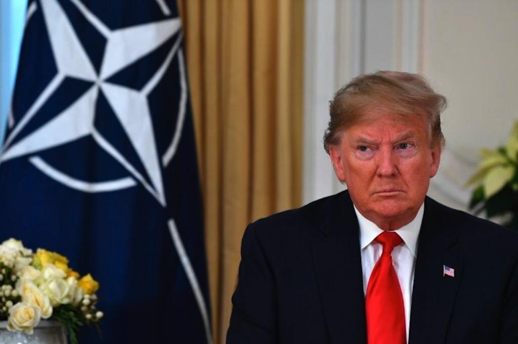 美國總統特朗普 2019年12月3日參加倫敦北約峰會