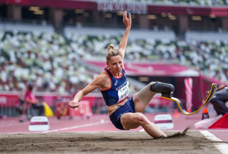 La présidente du Comité paralympique et sportif français Marie-Amélie Le Fur lors des Jeux de Tokyo, le 28 août 2021