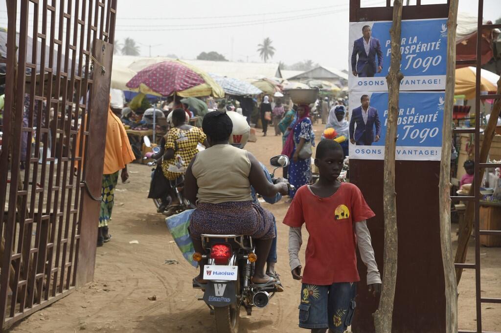 Vue d'un marché de Lomé, le 14 février 2020.