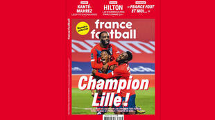 Couverture - France Football - arrêt hebdomadaire - numéro collector - Lille champion
