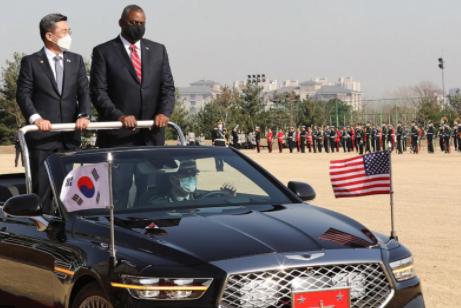 美韓兩國國防部長資料圖片