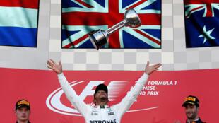 Lewis Hamilton: venceu de ponta a ponta a corrida no circuito de Suzuka.