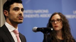 Subhi Nahas, um homossexual sírio, presta depoimento.