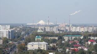 Une vue de la ville de Gomel en Biélorussie.