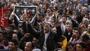 Opositores de Mursi, plaza Tahrir, el 11 de diciembre de 2012.