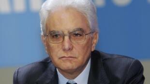 Sergio Mattarella, chef de l'Etat italien.