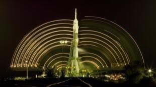 """Союз"" на космодроме Байконур, ноябрь 2010."
