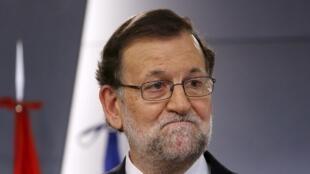 El actual presidente del gobierno y candidato del Partido Popular, Mariano Rajoy.