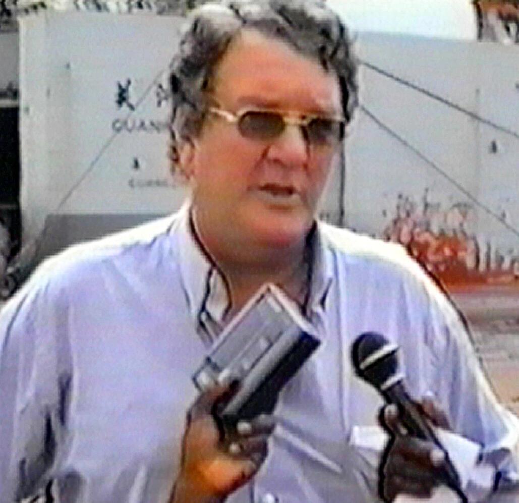 Guus Kouwenhoven, en 1999, au Liberia. L'homme d'affaires, reconnu complice de crimes de guerre et du président libérien Charles Taylor, est l'auteur principal du trafic du «bois du sang» au Liberia.