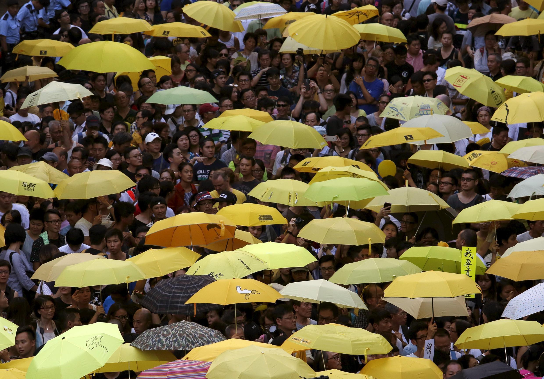 Zanga-zangar neman komawa tsarin Demokradiyya a Hong Kong.