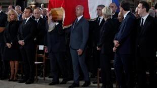 法国前总统希拉克葬礼仪式资料图片