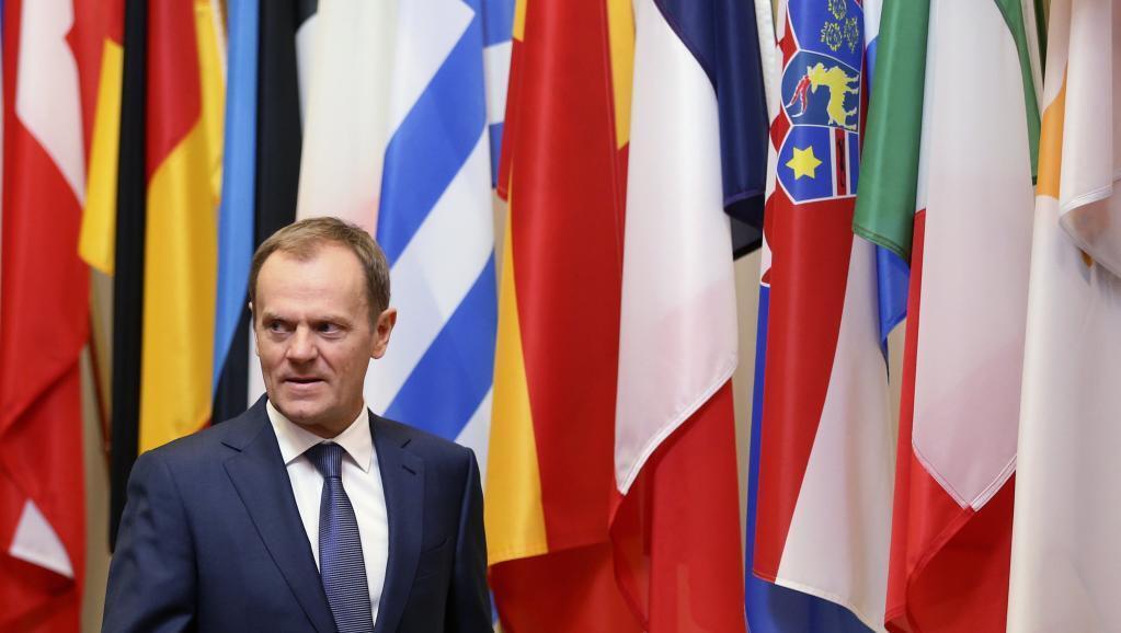 Donald Tusk, le président du Conseil européen, se rend dans plusieurs capitales européennes à la veille d'un sommet des Vingt-huit à Bruxelles.