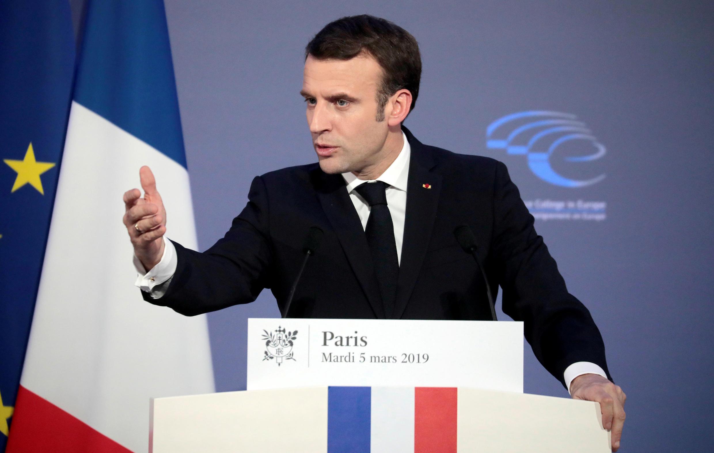 法國總統馬克龍月3月5日在外交部人工智能研討閉幕儀式上講話