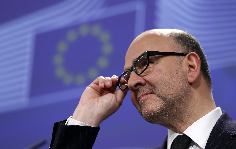 Еврокомиссар по вопросам экономики и финансов Пьер Московиси в Брюсселе, 25 февраля 2015 года