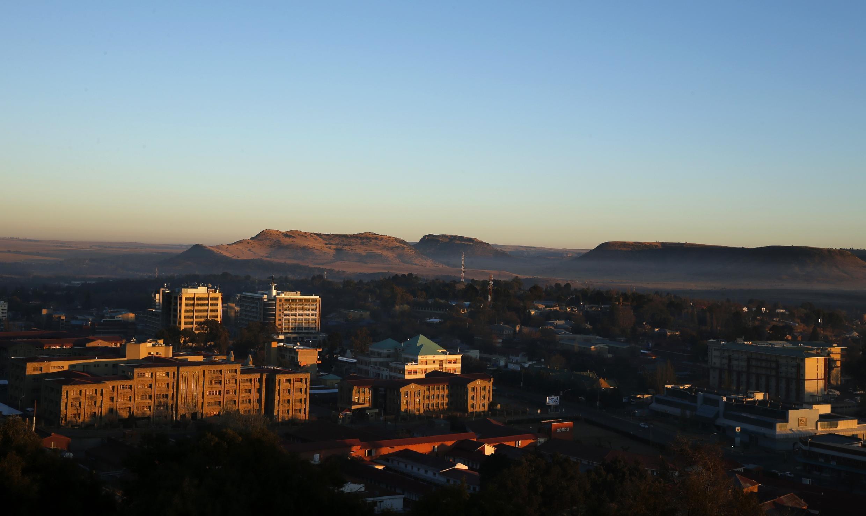 Vue de Maseru, la capitale du Lesotho, le 31 août 2014.