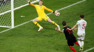 克羅地亞隊最後在加時賽逆轉英格蘭首次進入決賽