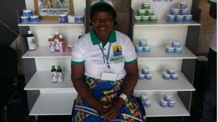 Olga Goto, productrice, présidente du groupement Cosmétic Congo.