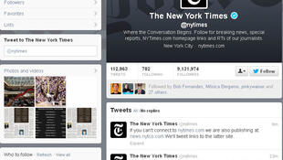 Post no twitter do jornal New York Times avisa que o site está fora do ar.