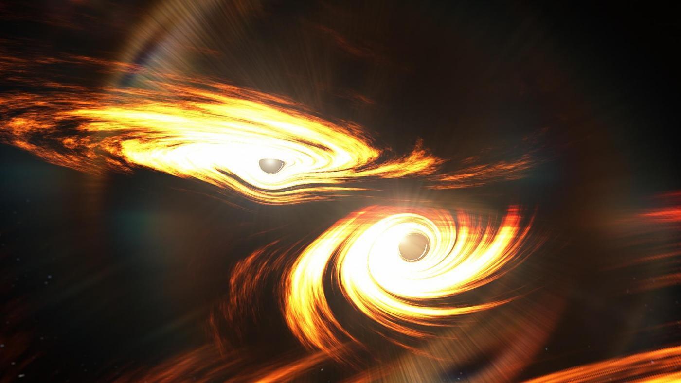 24 Artists Impression of Colliding Black Holes