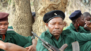 Renamo fighters receive military training in 2012 in Gorongosa's mountains, Mozambique.