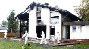 Mansão incendiada de Breno, em Munique.