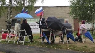 Ilya Yashin, candidat de l'opposition, lors d'un meeting de campagne à Kostroma pour les élections régionales, le 9 septembre 2015.