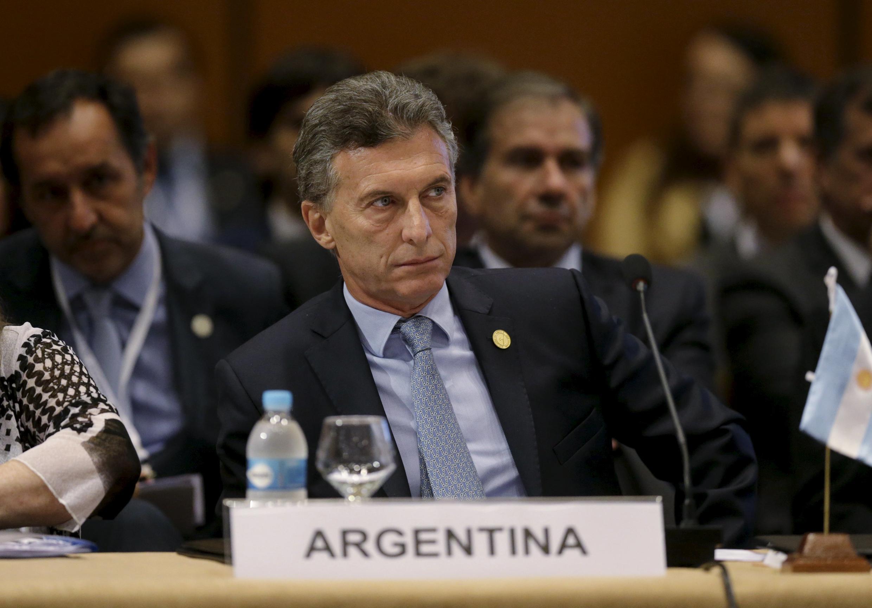 O presidente argentino, Mauricio Macri, durante a cúpula do Mercosul em 21 de dezembro de 2015.