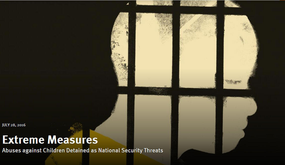 Relatório Human Right Watch menores torturados na luta contra terrorismo