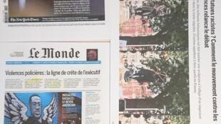 Páginas de diários franceses  09 06 2020