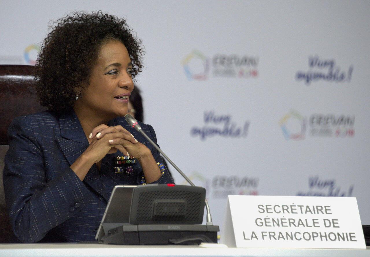 La secrétaire générale sortante de l'Organisation internationale de la Francophonie, Michaëlle Jean, le 7 octobre 2018 à Erevan, en Arménie.