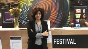 """Realizadora portuguesa Susana Sousa Dias no Festival """"Cinéma du réel"""" em Paris a 26 de Março de 2017"""