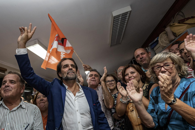 Miguel Albuquerque, líder do PSD Madeira, celebra vitória nas eleições regionais de 22 de Setembro de 2019.